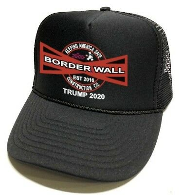 Border Wall Keeping America Safe Construction Co. Trump 2020 Hat Men Women New!