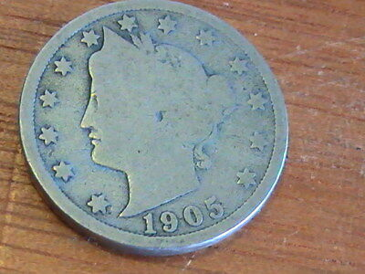 Us Nickel1905 Us 5C Five Cents Liberty Head Nickel
