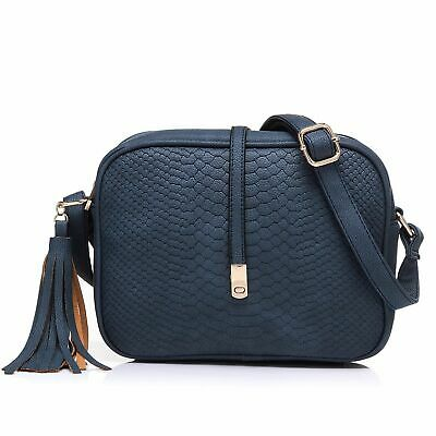 Small Crossbody Bags for Women Ladies Faux Leather Mini Shoulder Bag with Tassel