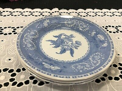"Set of 3 Spode ""Camilla - Blue"" Bread Plates 6 1/8"""