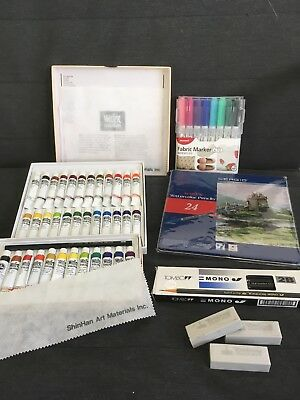 Artists job lot of paints, Coloured Pencils, Watercolour Pencils, Pencils