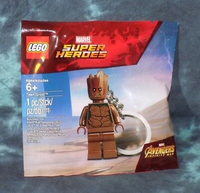 LEGO 5005244 Guardians of the Galaxy Teen Groot Mini Figure Key Chain