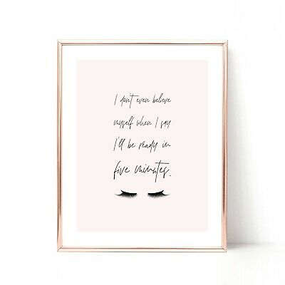 Inspirational Quote Prints Bedroom Wall Art Pink Decor Print New Home Gift Her
