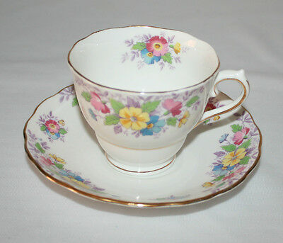 Colclough Genuine Bone China Cup & Saucer Made In Longton England