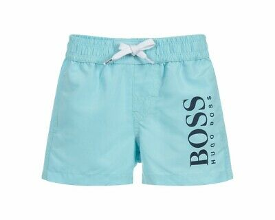 Hugo Boss Baby's J04325 754 Boys Summer Logo Swim Shorts Pale Blue