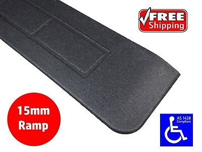 RUBBER THRESHOLD RAMP 15mm WHEELCHAIR ACCESS DISABLED DOOR STEP WEDGE
