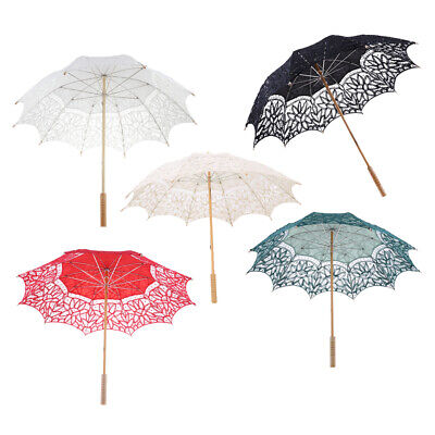 Retro Umbrella Cotton Lace Parasol Bridal Wedding Party Photo Decorations