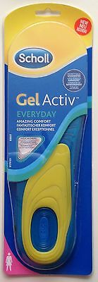 Scholl Gel Activ Everyday Insoles-Women-FITS SHOE SIZE UK(3.5-7.5)1Pair(Genuine)