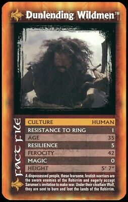 Dunlending Wildmen Lord Of The Rings The Two Towers 2002 Top Trumps Card (C2552)