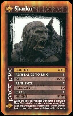 Sharku - The Lord Of The Rings The Two Towers 2002 Top Trumps Card (C2552)