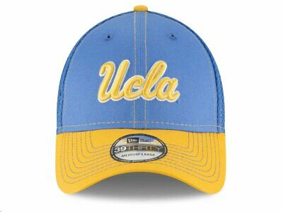 new style 50d64 3003c UCLA Bruins New Era 39THIRTY Hat - Size Medium Large - Light Blue Gold