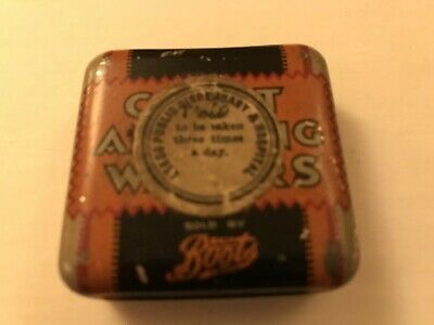 Boots - Chest & Lung Wafers Tin - Vintage Leeds Public Dispensary & Hospital