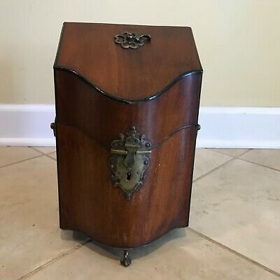 Antique 19th C. Georgian Inlaid Mahogany Knife / Letter Box as-is