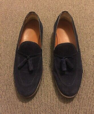 23ae99aa7ca MEN S ZARA LOAFERS Tassel Black Navy Suede Size Uk 6.5 Eur 40 Shoes ...