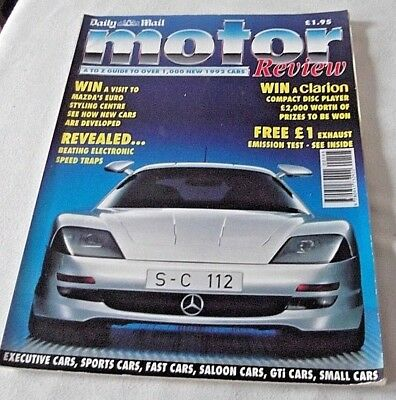 Daily Mail Motor Review Magazine - Year of 1992