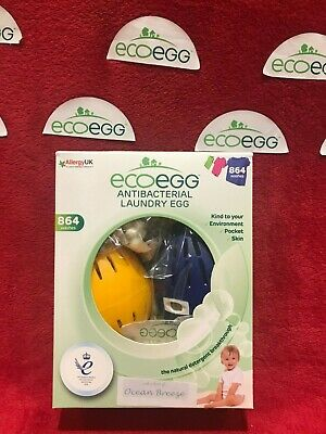 Two EcoEggs  1080 washes Ocean Breeze +Ocean Breeze (whitener)