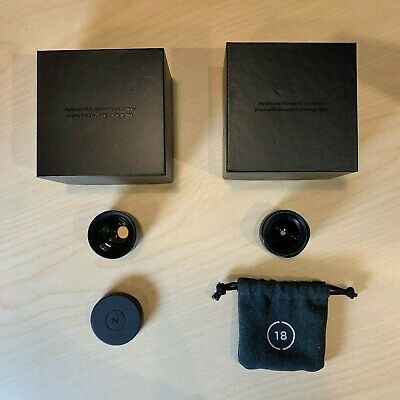 Moment Lens V1 18mm & 60mm with boxes