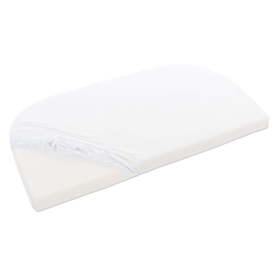 babybay fitted sheet terry cloth, white, for babybay maxi