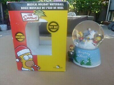 THE SIMPSONS MUSICAL XMAS SNOW GLOBE 2004 - Excellent condition in original box