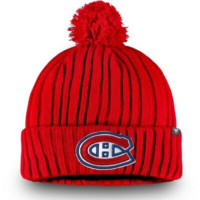 9c41ae4a6edce3 Montreal Canadiens Fanatics Branded Core Cuffed Knit Hat with Pom - Red
