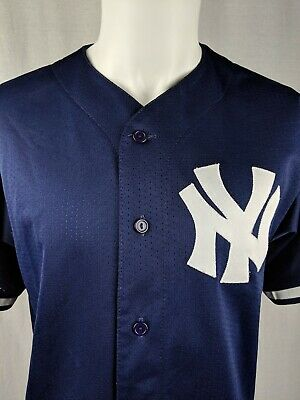 58eca4775 Vintage Majestic New York Yankees Warm Up Jersey Blue Size Large Made In  USA EUC