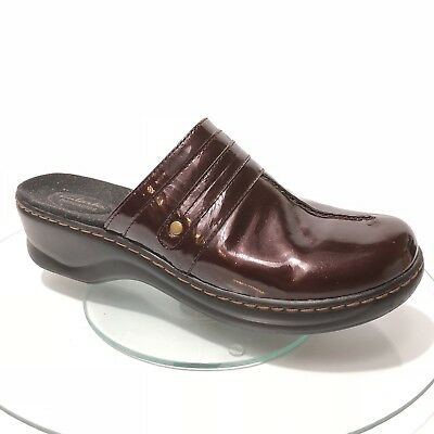 1a57f60ea917a Clarks Women Mules Clogs Brown Size 11 M Patent Leather Bendables Lexi Slip  On
