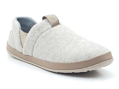 0cedadfb8a8 UGG HANZ MENS Slip on Slippers Natural Beige Fleece Lined Treadlite 1018240  Sz 9
