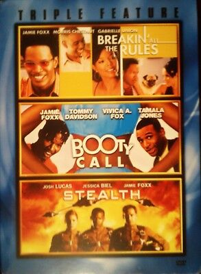 3 Jamie Foxx Movies BOOTY CALL STEALTH BREAKIN' ALL the RULES 3-Disc Set SEALED