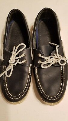 Sperry Top-Sider Men s 11 M Navy Blue ~ Leather Non Marking Boat Shoes  Sperrys 649efd7a5