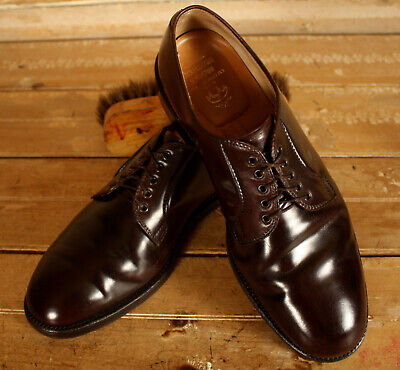 ee087286a48 Rare Style Alden For Brooks Brothers Shell Cordovan Plain Toe Blucher Sz 10  E!!
