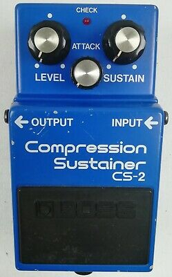 BOSS CS-2 Compression Sustainer Guitar Effects Pedal made in Japan 1984 #K150