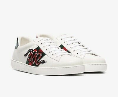 c9c8386a1 GUCCI MEN'S SHOES Ace Snake embroidered sneakers size US 11.5 ...