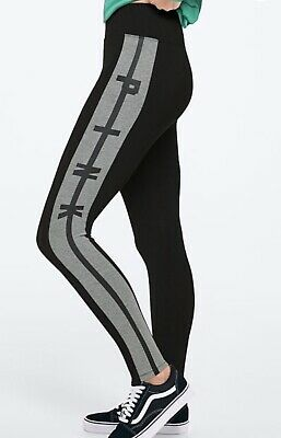 f7424323922067 VS PINK High Waist Cotton Colorblock Legging/NEW MSRP $39 Size Small /Black