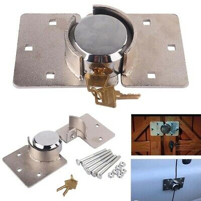 Security Hasp Shackle Lock Garage Shed Door Security Padlock 73mm With Bolt Keys