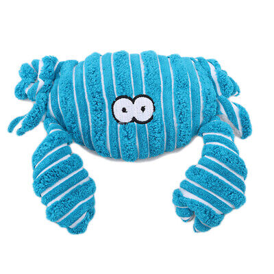 Cute Crab Squeaky Chew Plush Toy Safe Non-toxic Toys Releasing Pressure Toys LG
