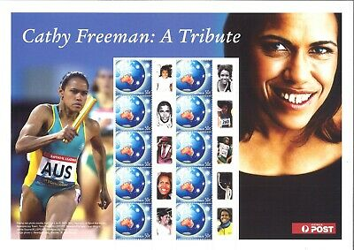 Australia Personalised Stamp Sheet Cathy Freeman A Tribute 10 Mint Stamps MUH