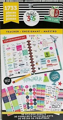 CREATE 365™ THE Happy Planner™ Teacher Value Pack Stickers 1733 MAMBI