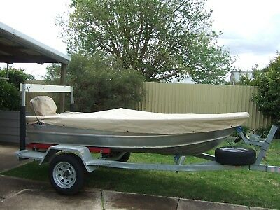 Stacer Aluminium 3.4 V Hull , on a  New Gal Austral Trailer 13 Wheels .