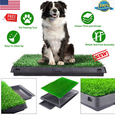 Indoor Puppy Training Grass Potty Toilet Trainer Dog Pee Patch Pads Restroom US