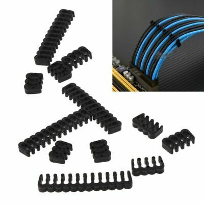 12 Pcs PP Cable Comb/Clamp/Clip /Dresser For 2.5-3.0 mm Cables Black 6/8/24 Pin