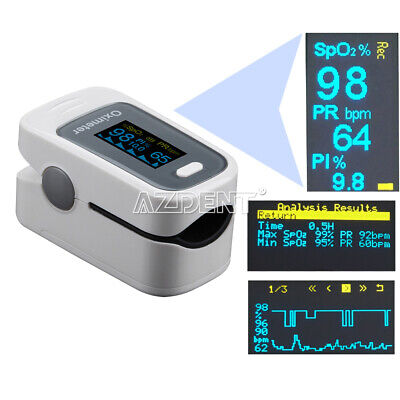 Finger tip Pulse Oximeter Blood Oxygen Meter SpO2 Heart Rate Monitor Fingertip