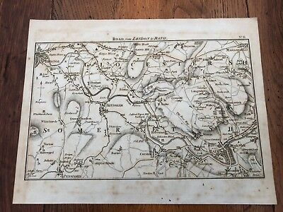 1792 topographical map - part of the great road from london to bath & bristol.11