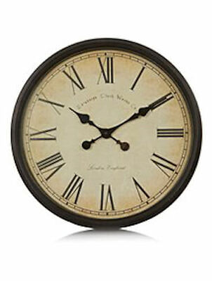 Old World Oversize Wall Clock RRP 20.00 lot GD 5054781094975