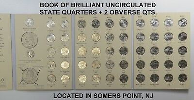 1999-2008 Brilliant Uncirculated State Quarters Set (All 50 States + 2 Obv Qtrs)