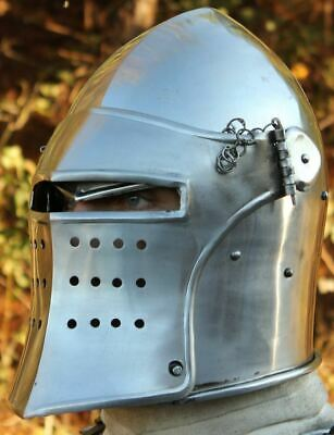 Medieval Knight European Closed Double Face Burgonet Armour Helmet Reproductions