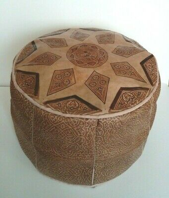 Moroccan Leather Pouffe / footstool