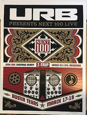 Shepard Fairey Signed URB Exclusive Limited Edition Poster
