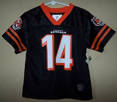 9c6429372 Youth  14 Andy DALTON Cincinnati BENGALS Black Football Jersey NFL Team  Apparel