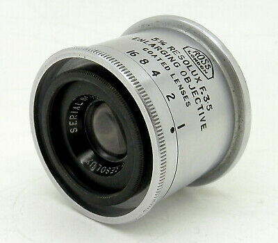 Vintage Ross Resolux 5cm F3.5 39mm Screw Mount Enlarger Lens #1074MS