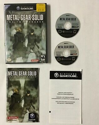 Metal Gear Solid Twin Snakes Nintendo GameCube CIB Complete Game Cube